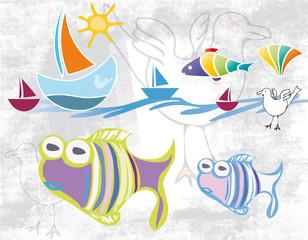 Sommer - Sonne - Strand - Meer - Fisch