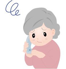 おばあさん 電話01
