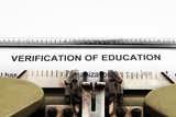 Verification of education poster
