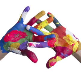 Mani colorate intrecciate
