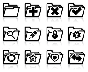 Folder management icons