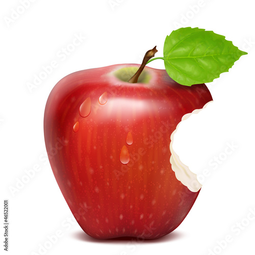 bitten red apple