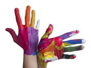 Mani colorate - dorso - palmo