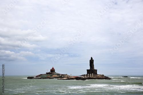 Leinwanddruck Bild landscape of Vivekananda Memorial