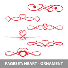 PAGE Set heart ornamente