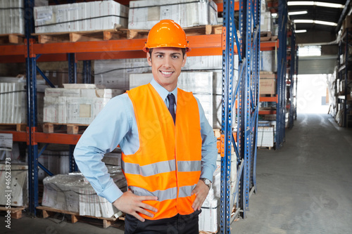 Confident Supervisor At Warehouse