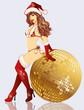 Sexy Santa girl , vector illustration