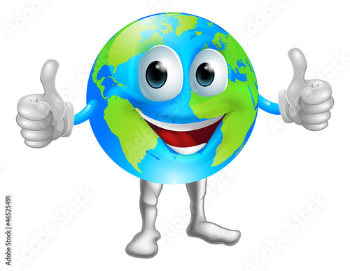 Globe mascot character