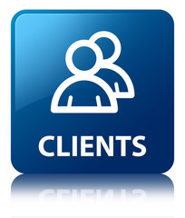 CLIENTS Blue Square Button
