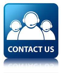 CONTACT US (Customer Care) Blue Square Button