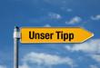 Pfeil mit blauem Himmel UNSER TIPP