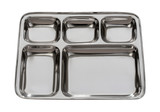 Silver Metal Tray Isolated with clipping path poster