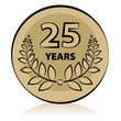 Label 25 anniversary, vector illustration
