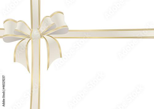 Doppelschleife in beige und gold