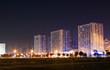 Night view of modern residental buildings