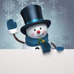 new year snowman banner