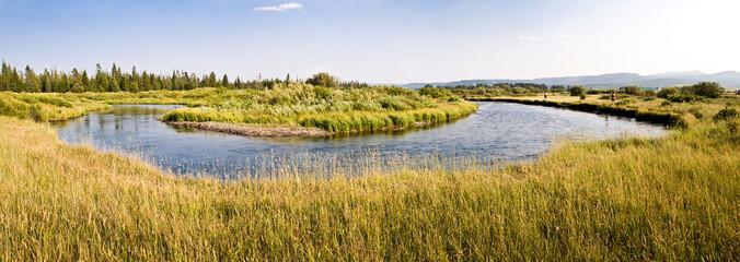 Panorama de la rivière Madison, Montana - USA