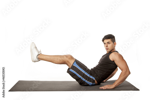 Man exercising