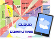 Cloud computing concept (Fictional tablet design)
