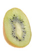 Kiwi Cut in Half Isolated on White Background
