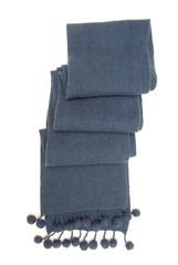 Теплый синий шарф.