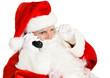 Santa Claus Takes Phone Call