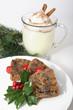 Christmas Fruitcake and Eggnog