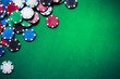 Casino chips on gaming table