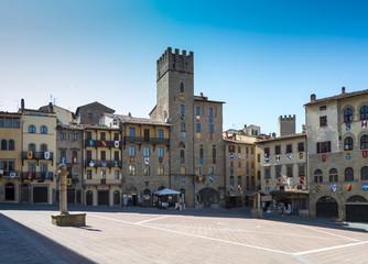 Piazza Grande di Arezzo, Toscana, Italia