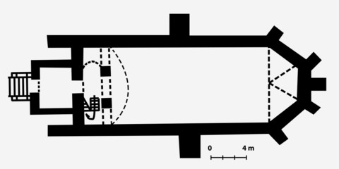 abstract plan of church