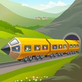 Fototapety Kids Taking A Train Ride