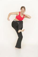 Sportlich aktive Dame
