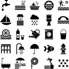 Water icons