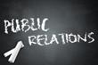 """Blackboard """"Public Relations"""""""