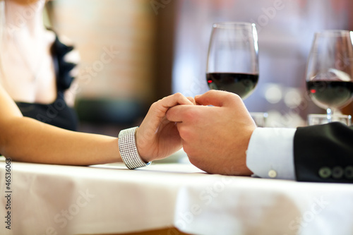 Young couple having a romantic dinner