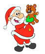 Santa Claus & Teddy Bear