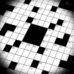 Crossword Puzzle Game Close Up