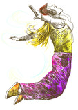 street dancer (-full sized hand drawing)