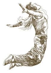 street dancer (-full sized hand drawing)