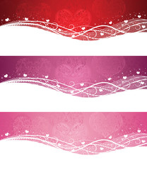 Set of a valentine's day banners.