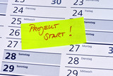 Projektstart, Project, Projektmanagement, kick off, Kalender