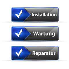 installation wartung reparatur button set