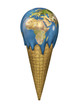 Ice cream Earth, Earth map texture source: cinema4dtutorial.net