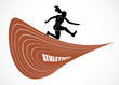 Steeplechase runner - vector background