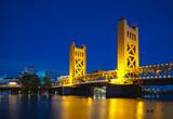 Golden Gates drawbridge in Sacramento - 46538442