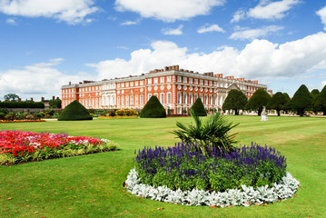 Hampton Court palace on a sunny day
