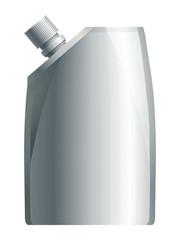 Blank white plastic soft shampoo bottle. Eps10