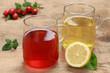 Tee aus Hagebutte und Zitrone