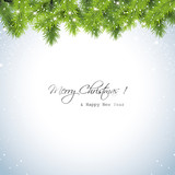 Fototapety Christmas snowy background