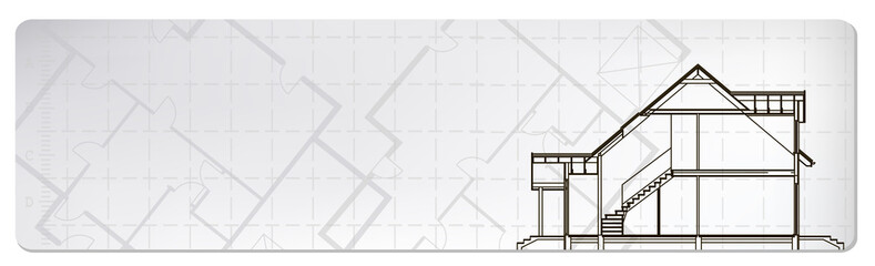 architectural banner. vector illustration